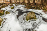 Partially Frozen Gulf Brook in Winter, Athol, MA