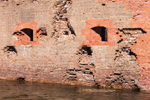 Close Up View of Damage to Fort's Breached Southeast Wall, Fort Pulaski National Monument, Cockspur Island, GA