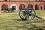 Cannons on Parade Ground with Casemates in Background, Fort Pulaski National Monument, Cockspur Island, GA