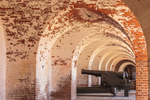 Cannons (Casemate Guns) inside Arched Casemates, Fort Pulaski National Monument, Cockspur Island, GA