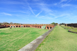Overview of Fort Pulaski with Parade Ground from atop Terreplein, Fort Pulaski National Monument, Cockspur Island, GA