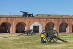 Young Boy Examining Cannon on Parade Ground, Fort Pulaski National Monument, Cockspur Island, GA