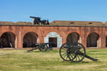 Cannons and Parade Ground, Fort Pulaski National Monument, Cockspur Island, GA