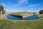Moat Surrounding Demilune (Earthen Mound) in Front of Fort Entrance, Fort Pulaski National Monument, Cockspur Island, GA