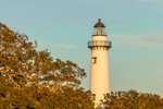 Close Up of Top of St. Simons Island Lighthouse, St. Simons Island, GA