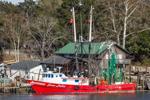 Shrimp Boat at Dock on Darien River, Darien, GA