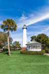 View of St. Simons Island Lighthouse and Gazebo, St. Simons Island, GA