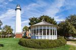 View of St. Simons Island Lighthouse and Gazebo, St. Simons Island, GA
