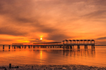 Clam Creek Fishing Pier at Sunset on St. Simons Sound, Jekyll Island, GA