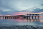 Clam Creek Fishing Pier at Sunset on St. Simons Sound, Jekyll Island, GA