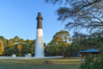 Early Morning Light on Hunting Island Lighthouse, Hunting Island State Park, Hunting Island, SC