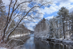 Clearing Skies over Ashuelot River after Snowstorm, Winchester, NH