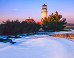 Highland Light (Cape Cod Light) in Winter, Cape Cod National Seashore, Truro, MA