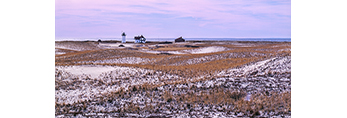 Race Point Lighthouse and Surrounding Dunes in Winter, Cape Cod National Seashore, Provincetown, MA