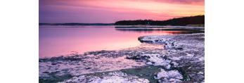 Nauset Marsh and Barrier Beach at Sunrise, Cape Cod National Seashore, Cape Cod, Eastham, MA