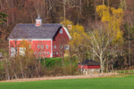 Red Barns at High Valley Farm in Early Spring, Taconic Mountains, Copake Falls, NY