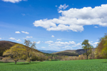 Panoramic View of High Valley Farm in Spring, Taconic Mountains, Copake Falls, NY