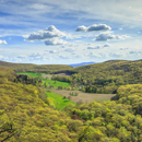 Panoramic View of High Valley Farm in Taconic Mountains in Early Spring, Taken from Taconic State Park, Copake Falls, NY