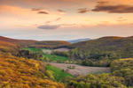 Panoramic View of High Valley Farm in Taconic Mountains at Sunset in Early Spring, Taken from Taconic State Park, Copake Falls, NY