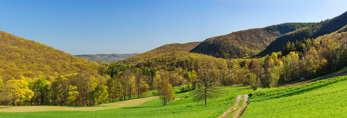 Panoramic View of High Valley Farm on Early Spring Morning, Taconic Mountains, Copake Falls, NY