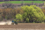 Tractor at Work Preparing the Field in Early Spring, Taconic Mountains, Copake, NY