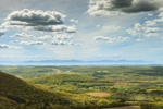 Panoramic View of Hudson River Valley in Early Spring from Taconic Mountains State Park out to Catskill Mountains, View from Copake Falls, NY