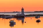 Edgartown Lighthouse at Predawn, Martha's Vineyard, Edgartown, MA