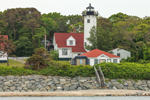 View of West Chop Lighthouse from the Water, Vineyard Sound, Martha's Vineyard, Tisbury, MA