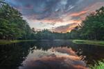 Predawn at Sparkle Plenty Pond on Mulpus Brook Acres Property, Lunenburg, MA