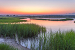Salt Marsh at Predawn at Three Mile Harbor, Long Island, East Hampton, NY