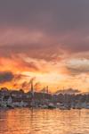 Dramatic Sunset over Camden Harbor, Camden, ME
