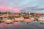 Colorful Sunrise over Camden Harbor, Camden, ME