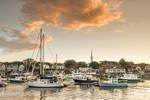 Sunset over Camden Harbor, Camden, ME
