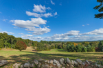 Old Stone Wall and Grassy Meadow on Sunny Day, Dover, MA