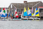 Colorful Sailboats at Mystic Seaport: The Museum of America and the Sea, Mystic River, Mystic, CT
