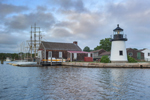Replica of Brant Point Lighthouse at Mystic Seaport: The Museum of America and the Sea, Mystic River, Mystic, CT
