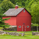 Red Barn and Stone Walls, Stonington, CT