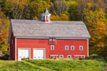 Red Barn in Autumn at High Valley Farm, Taconic Mountains, Copake Falls, NY