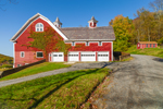 Ivy-covered Red Barn in Autumn at High Valley Farm, Taconic Mountains, Copake Falls, NY