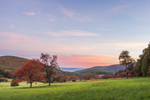 Sunrise over Fields in Early Autumn at High Valley Farm, Taconic Mountains, Copake Falls, NY