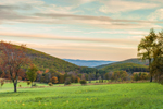 Sunrise over Fields in Autumn at High Valley Farm, Taconic Mountains, Copake Falls, NY