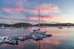 Sunset over Boats in Buck's Harbor, Brooksville, ME