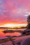 Sunrise over Boats Anchored in Seal Bay, Vinalhaven, ME