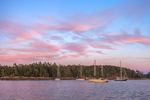 Sunset over Somes Harbor, Village of Somesville, Mount Desert Island, Mount Desert, ME