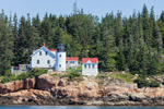 View of Bass Harbor Head Light from Atlantic Ocean, Acadia National Patk, Mount Desert Island, Tremont, ME
