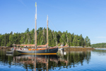 "Schooner ""Winfield Lash""  and Reflections in Tom Cod Cove at Holbrook Island Sanctuary State Park, Cape Rosier, Brooksville, ME"