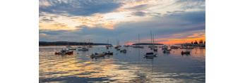 Sunrise over Boats in Southwest Harbor, Mount Desert Island, Southwest Harbor, ME