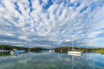 Calm Waters of Hadley Harbor in Early Evening Light, Naushon and Bull Islands, Elizabeth Islands, Gosnold, MA