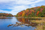 Otis Reservoir in Autumn, Tolland State Forest, Berkshire Mountains, Tolland, MA