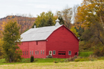 Big Red Barn in Autumn, Stephentown and Berlin, NY